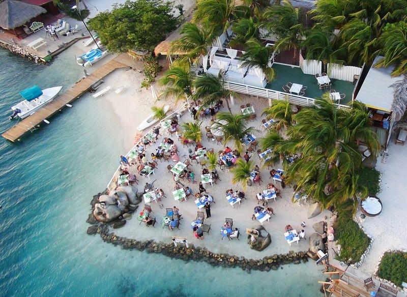 On The Beach Dining In Savaneta Aruba Flying Fishbone Restaurant