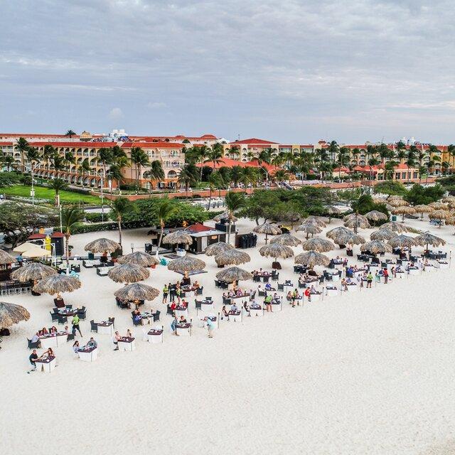 Beachfront Seafood Restaurant On Eagle Beach Aruba
